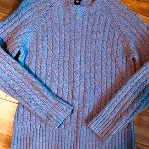 Classic Gap Cable Lavender Sweater Size Medium